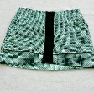 AX Armani Exchange Green Mini Skirt Sz 8